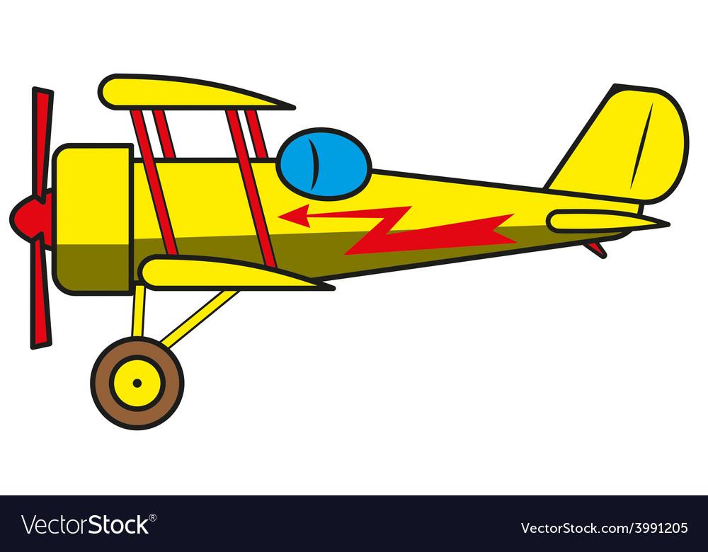 Vintage plane vector | Price: 1 Credit (USD $1)
