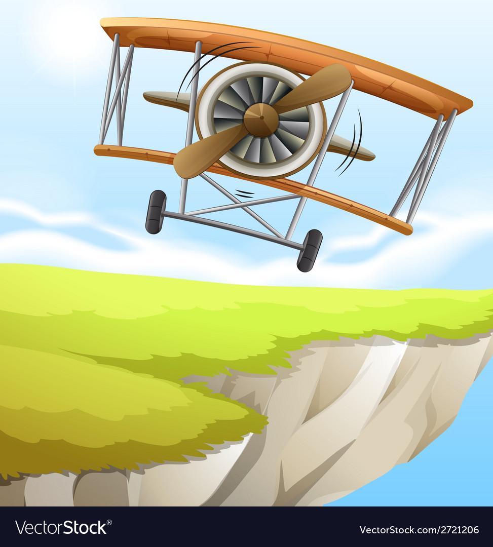 A plane near the cliff vector | Price: 1 Credit (USD $1)