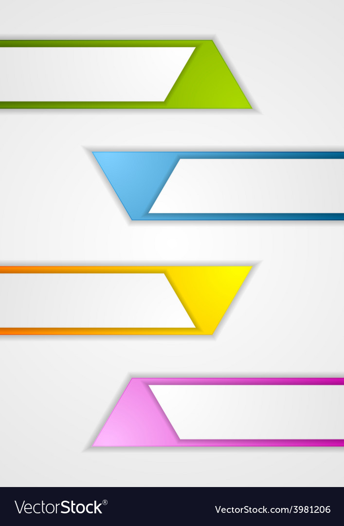 Abstract geometric web sticker banners vector | Price: 1 Credit (USD $1)