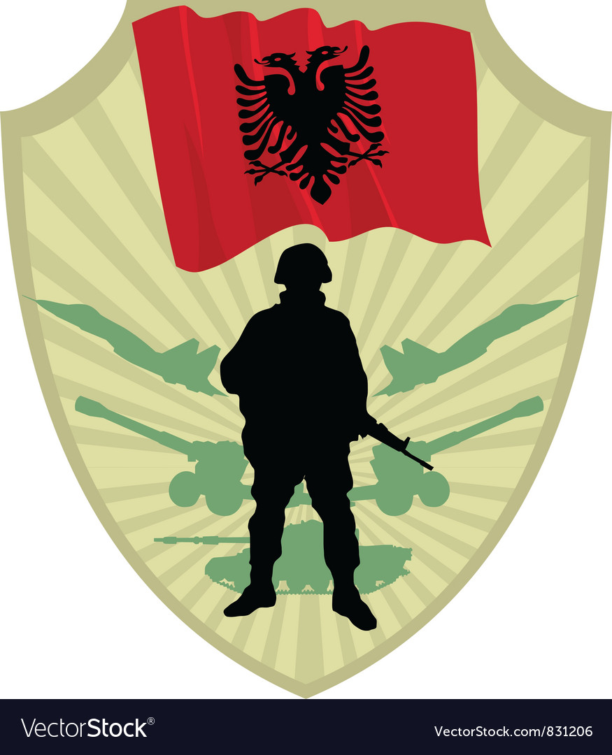 Army of albania vector | Price: 1 Credit (USD $1)
