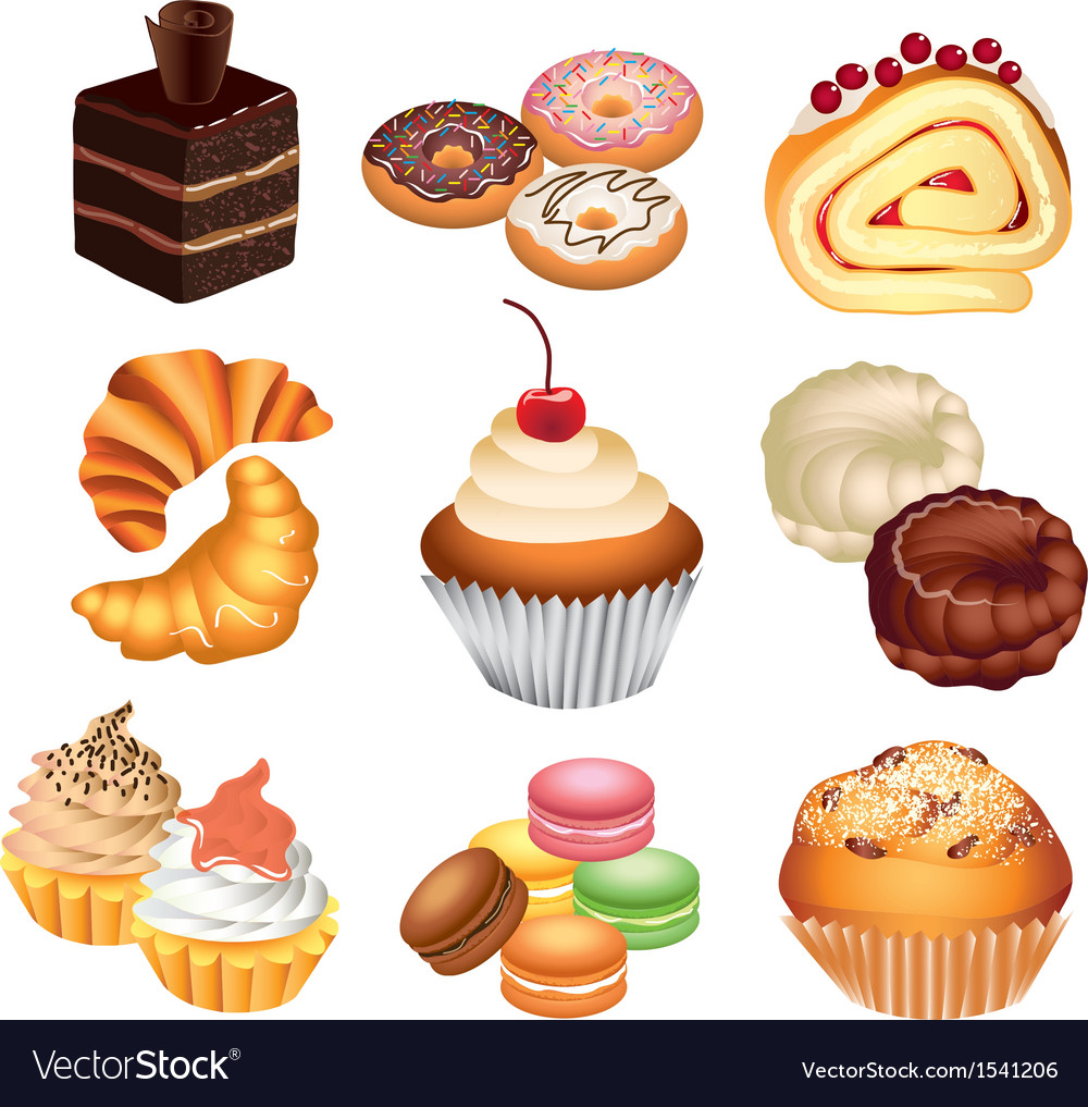 Cakes set vector | Price: 3 Credit (USD $3)