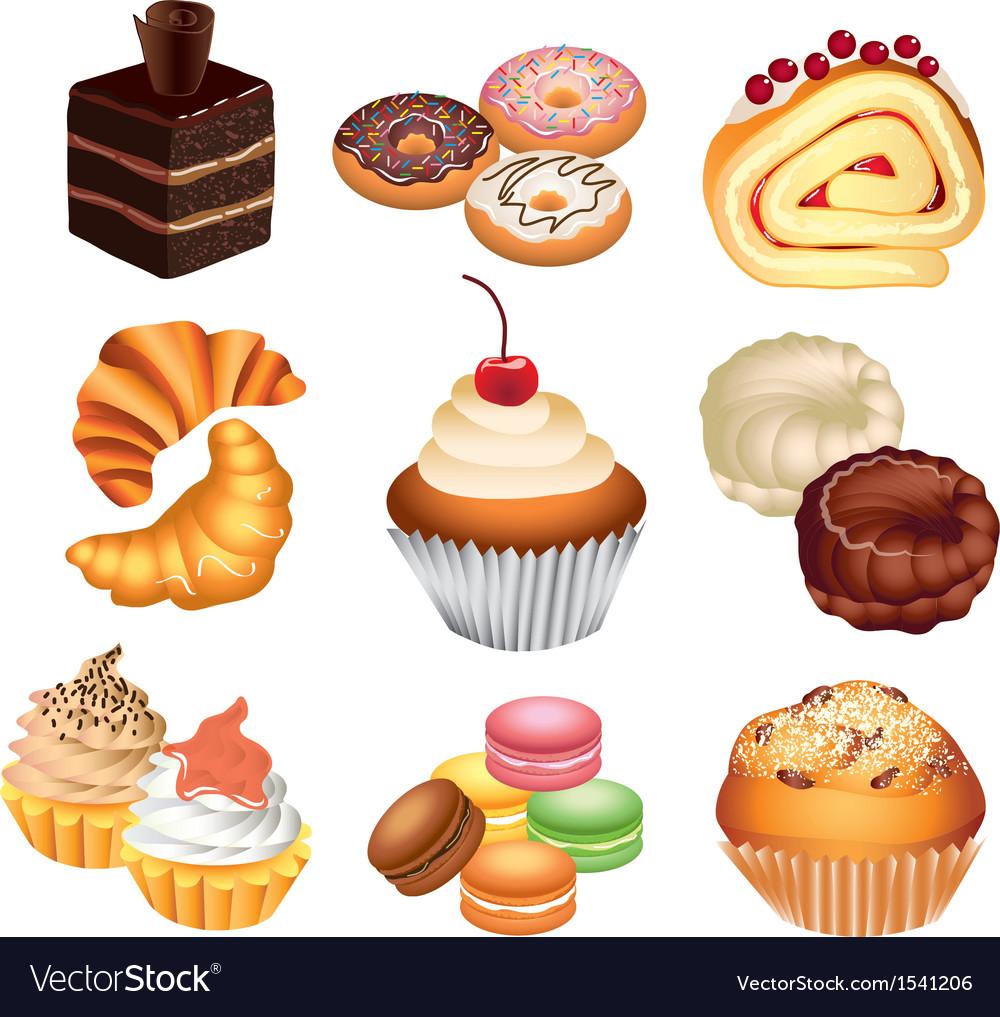 Cakes set vector | Price: 3 Credit (USD $3)