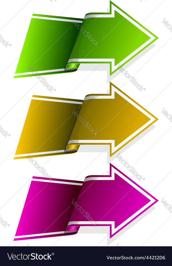 Collection label with arrow vector | Price: 1 Credit (USD $1)