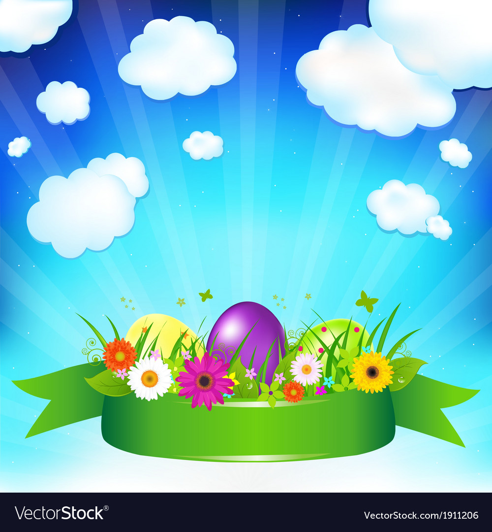 Easter ard template vector | Price: 1 Credit (USD $1)