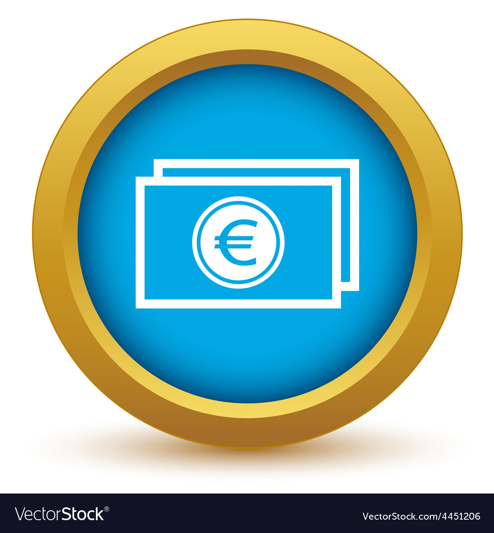 Gold euro buck icon vector | Price: 1 Credit (USD $1)