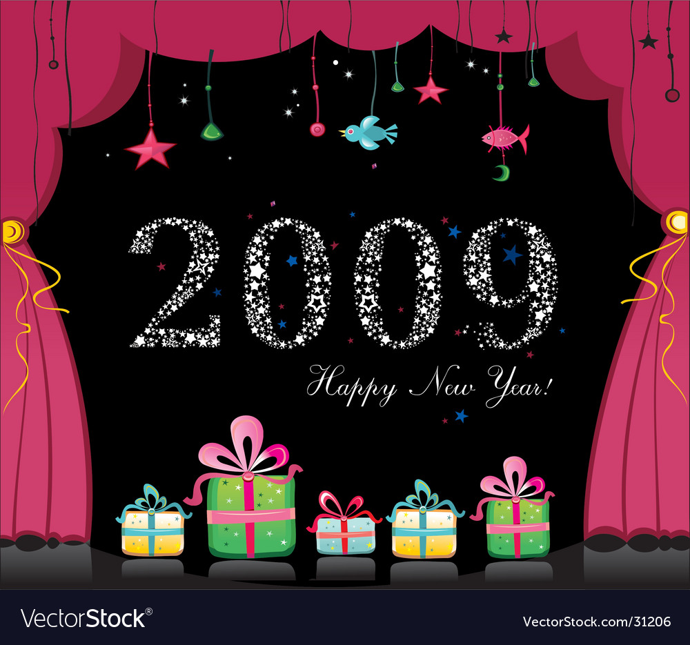 Happy new year image vector | Price: 3 Credit (USD $3)