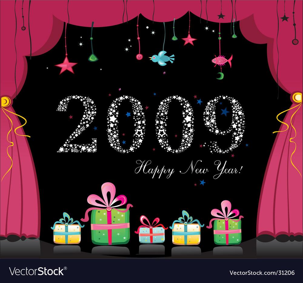 Happy new year image vector | Price: 3 Credit (USD $3)