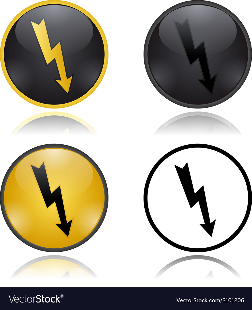 High voltage warning signs vector | Price: 1 Credit (USD $1)