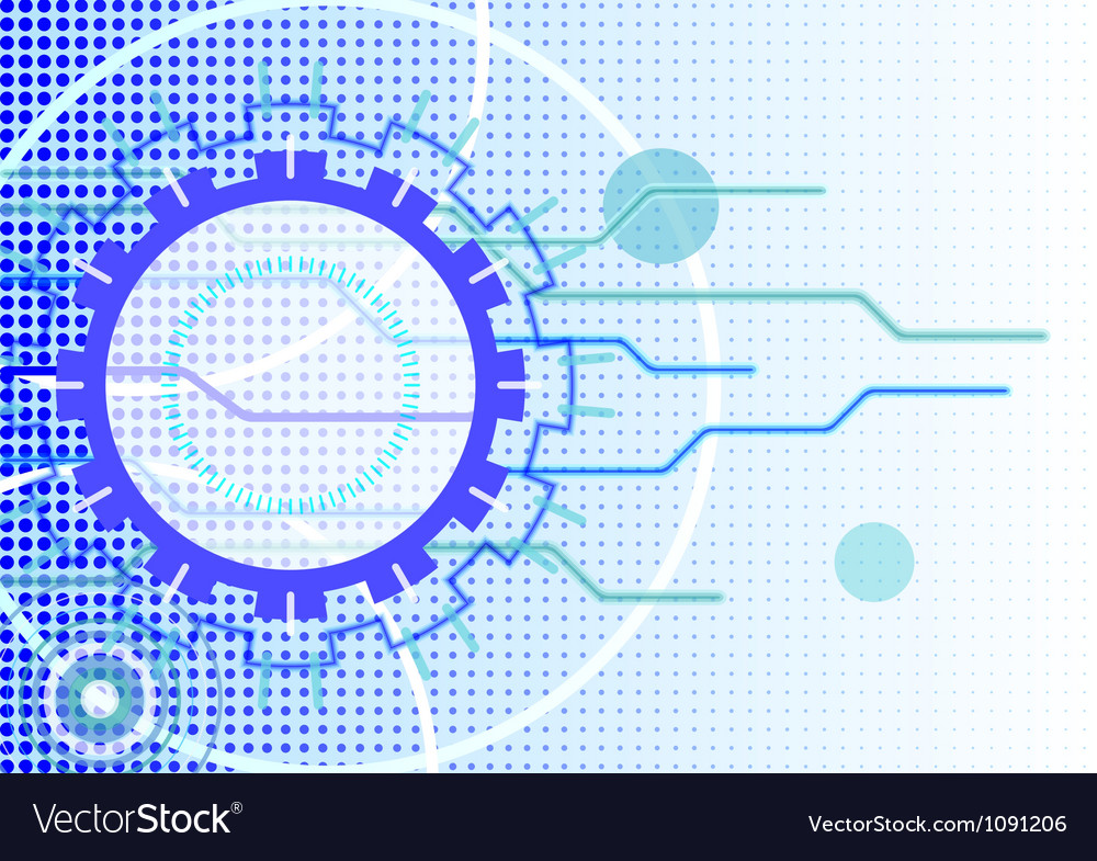 Technical abstract background - horizontal format vector | Price: 1 Credit (USD $1)