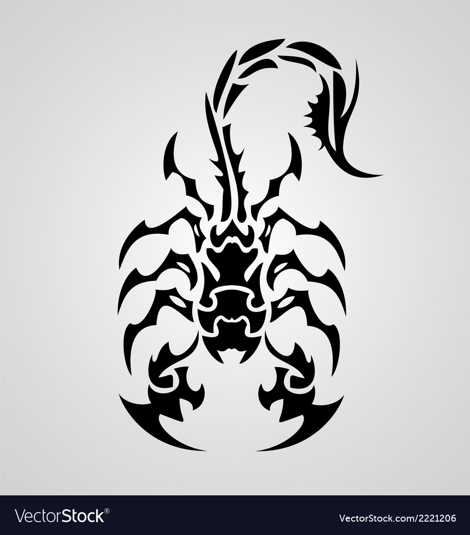 Tribal scorpions vector | Price: 1 Credit (USD $1)