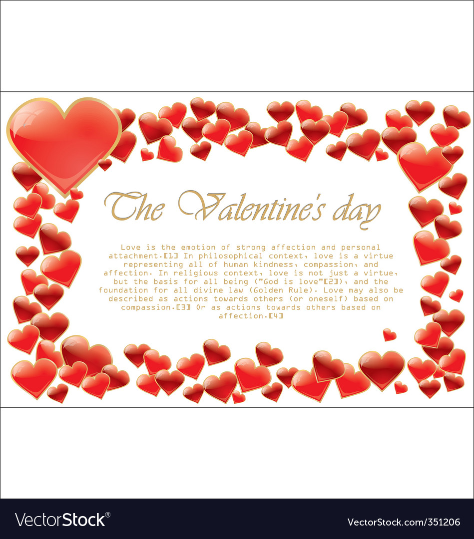 Valentines day hearts vector | Price: 1 Credit (USD $1)