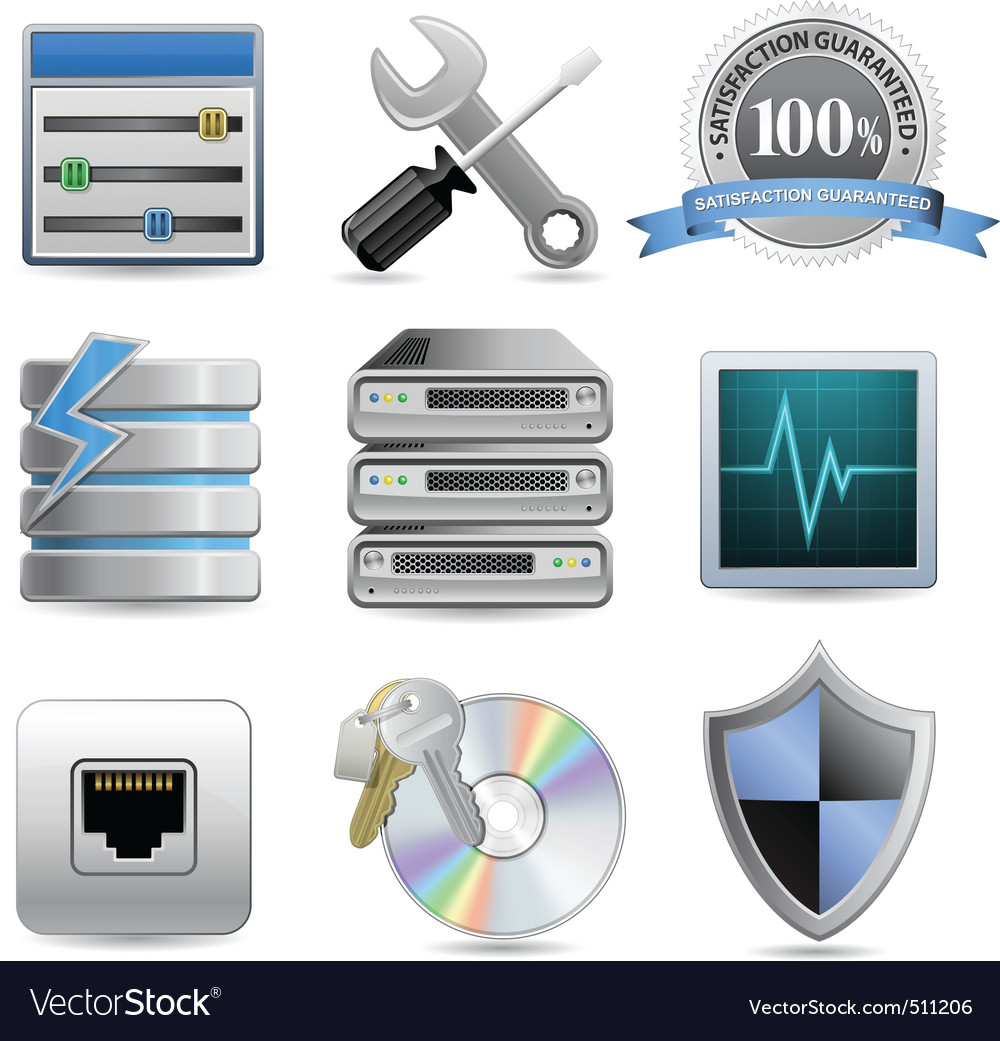 Web hosting icons vector | Price: 1 Credit (USD $1)