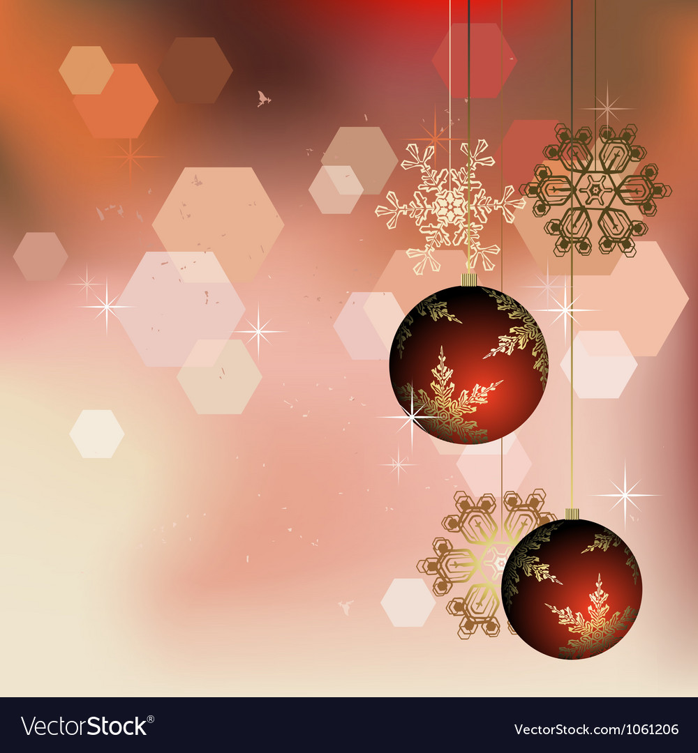 Winter background with christmas decoration vector | Price: 1 Credit (USD $1)