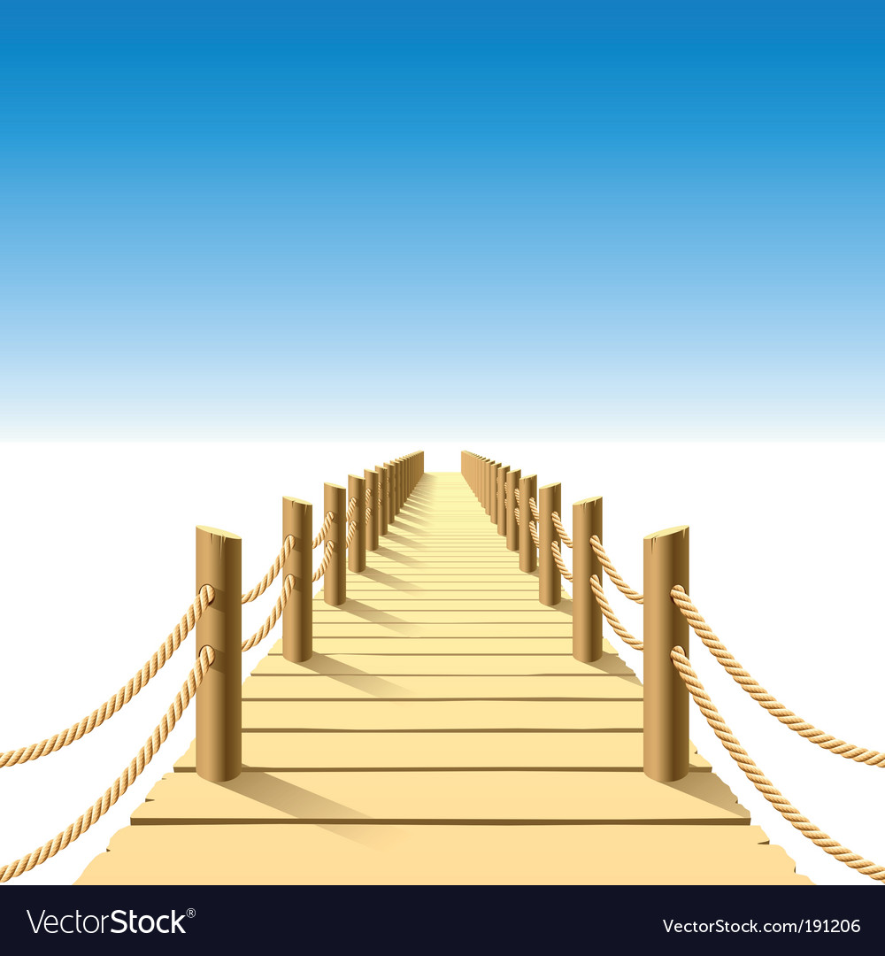 Wooden jetty vector | Price: 3 Credit (USD $3)