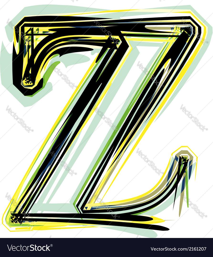 Font letter z vector | Price: 1 Credit (USD $1)