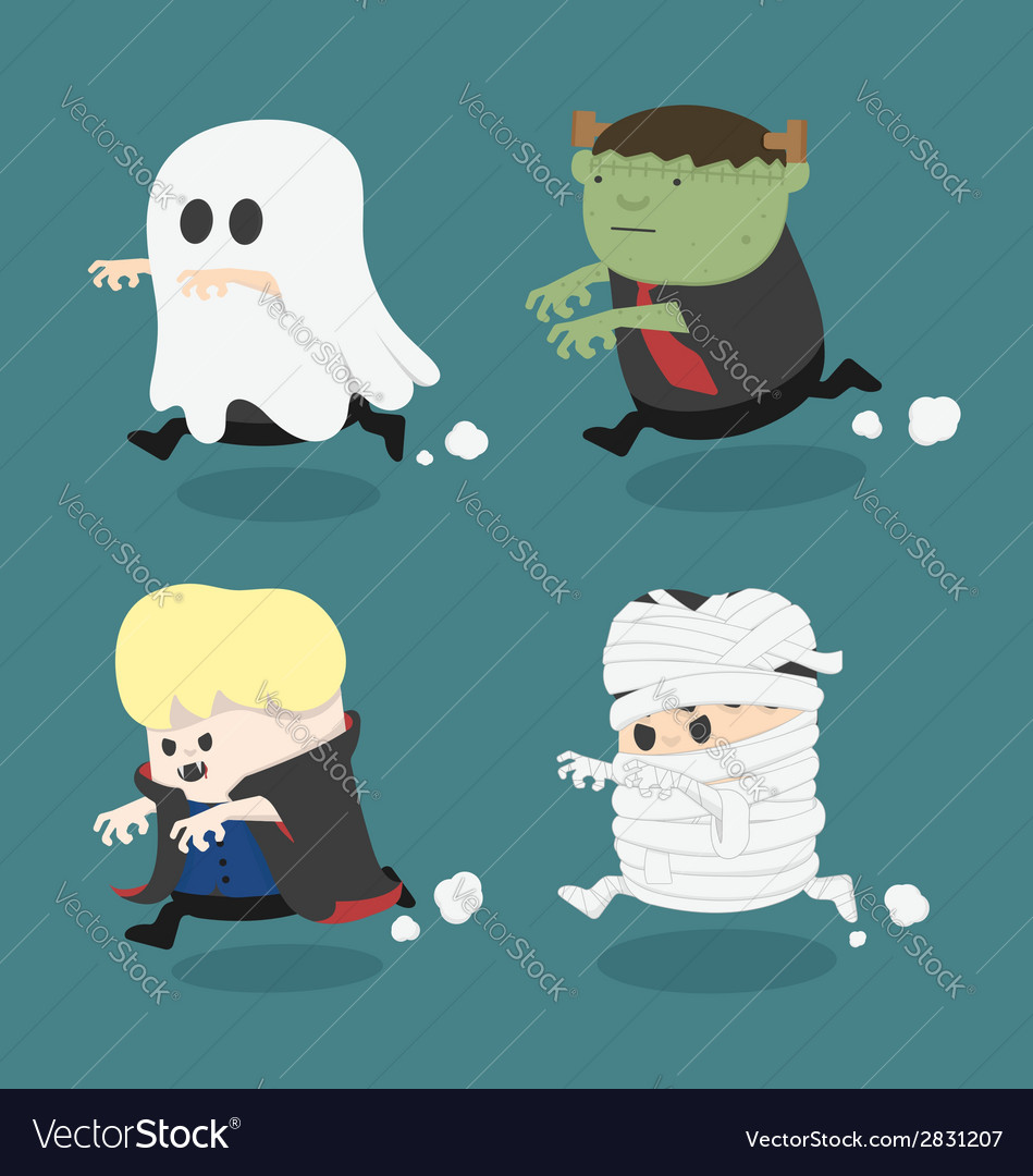 Halloween monster costume vector | Price: 1 Credit (USD $1)