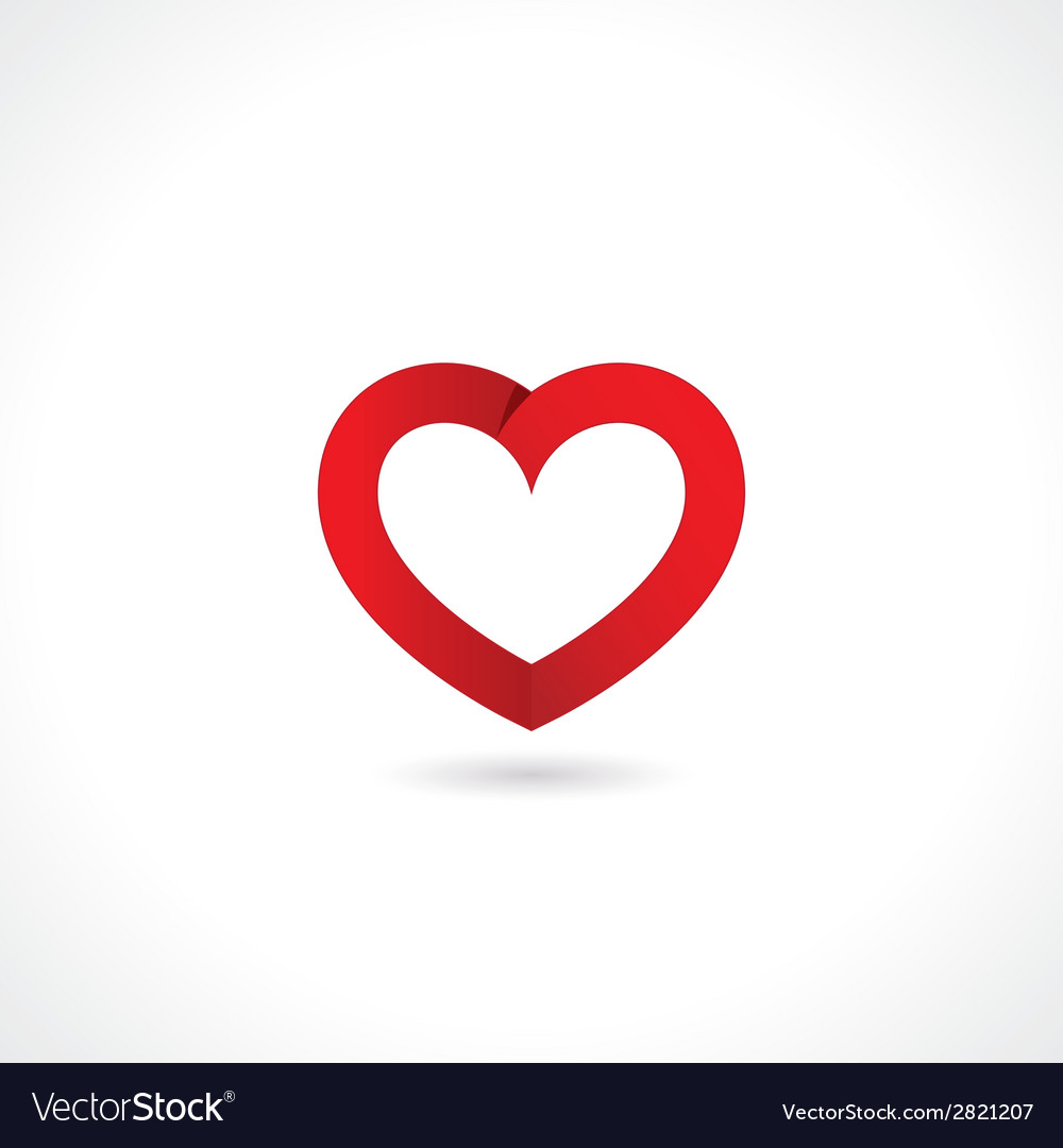Paper red heart vector | Price: 1 Credit (USD $1)