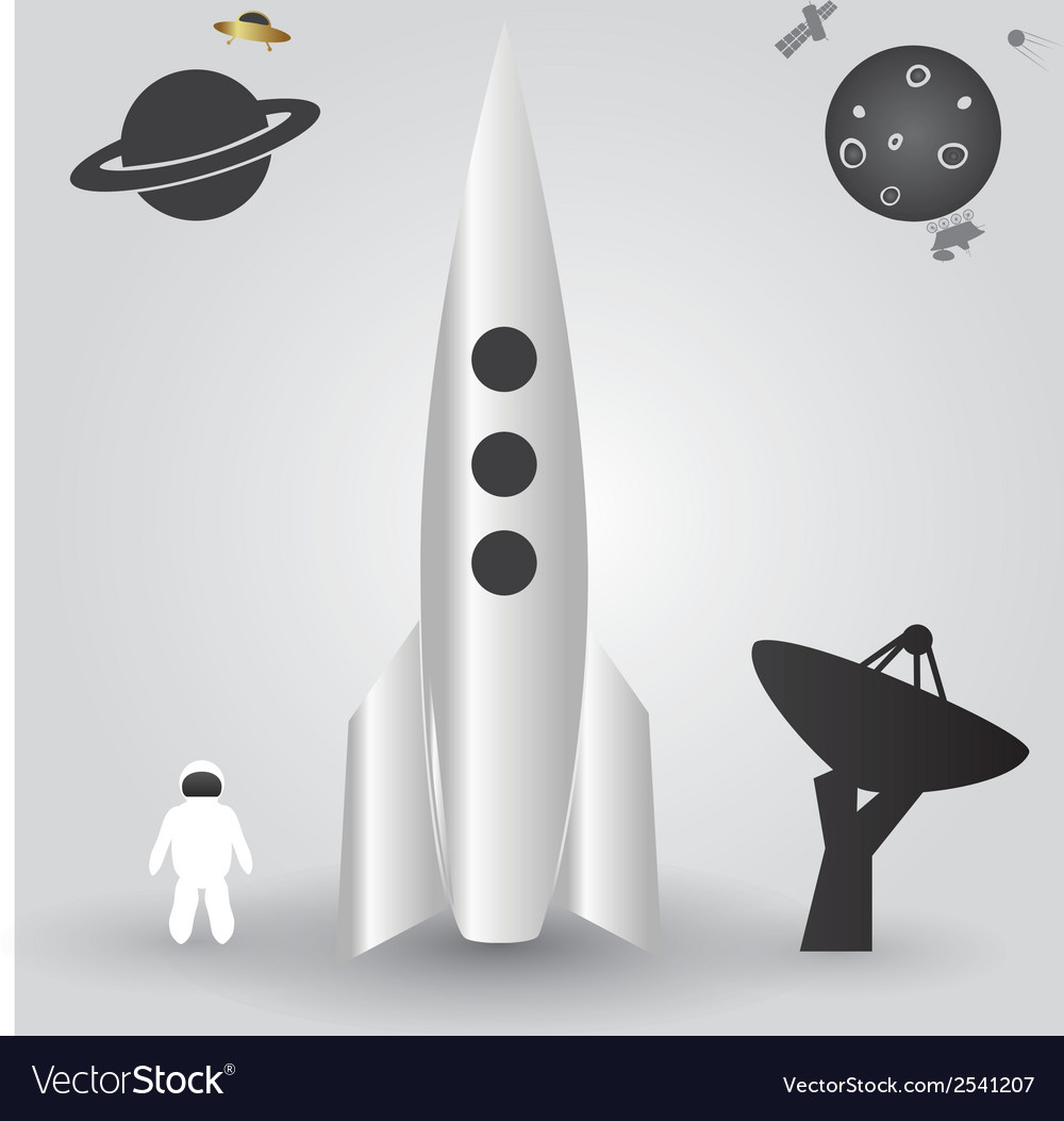 Space rocket launch eps10 vector | Price: 1 Credit (USD $1)