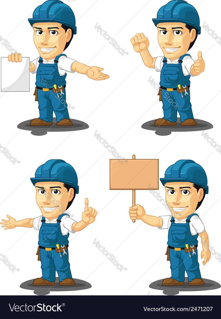 Technician or repairman mascot 12 vector | Price: 1 Credit (USD $1)