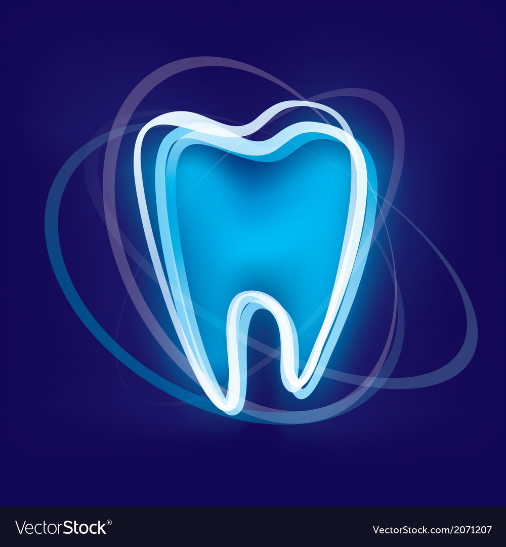 Tooth protection abstract symbol vector
