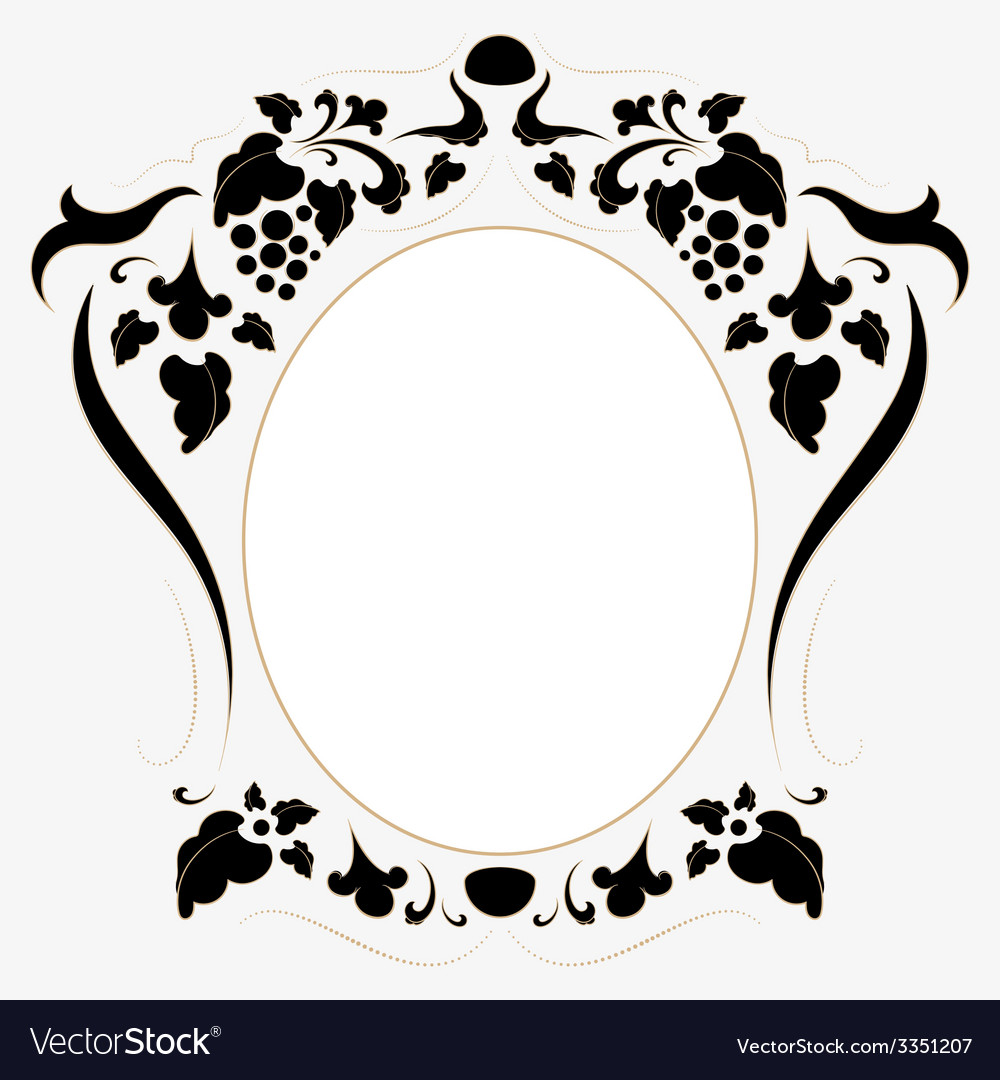 Vintage frame in retro style vector | Price: 1 Credit (USD $1)