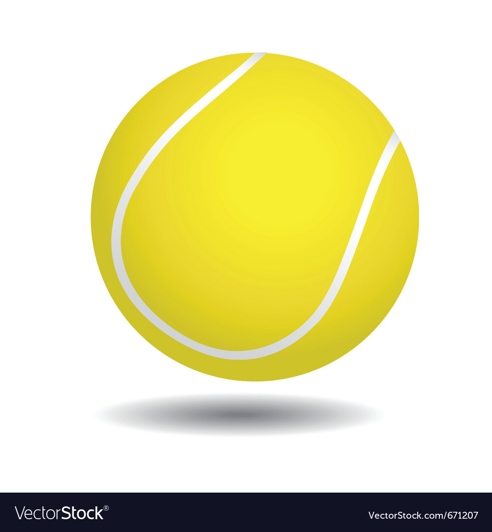 Yellow tennis ball vector | Price: 1 Credit (USD $1)