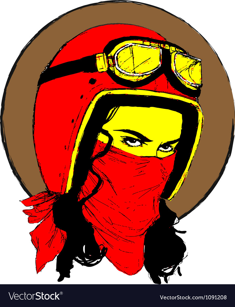 Biker girl vector | Price: 1 Credit (USD $1)
