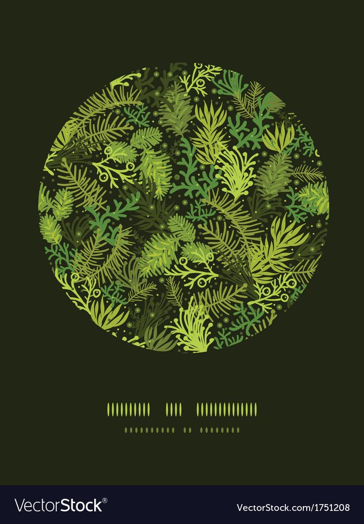 Evergreen christmas tree circle decor pattern vector | Price: 1 Credit (USD $1)