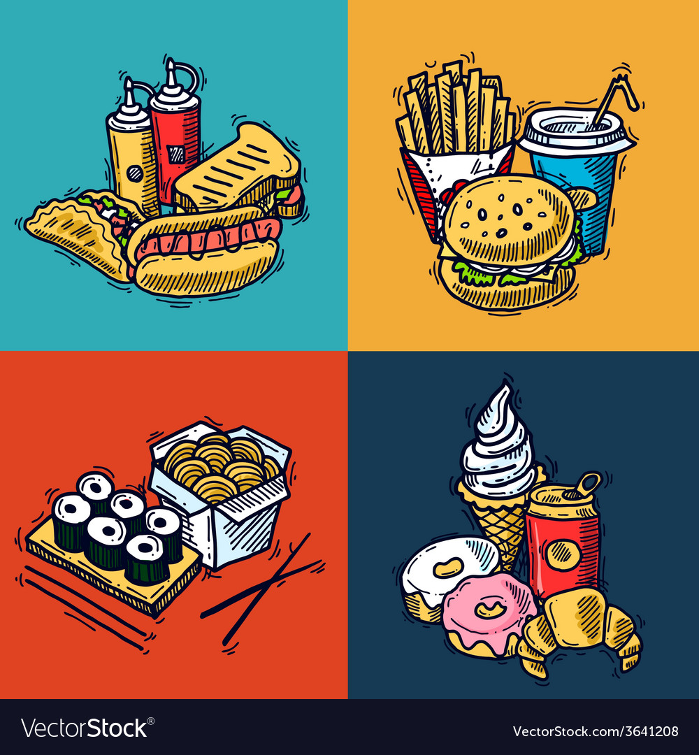 Fast food design concept vector | Price: 1 Credit (USD $1)