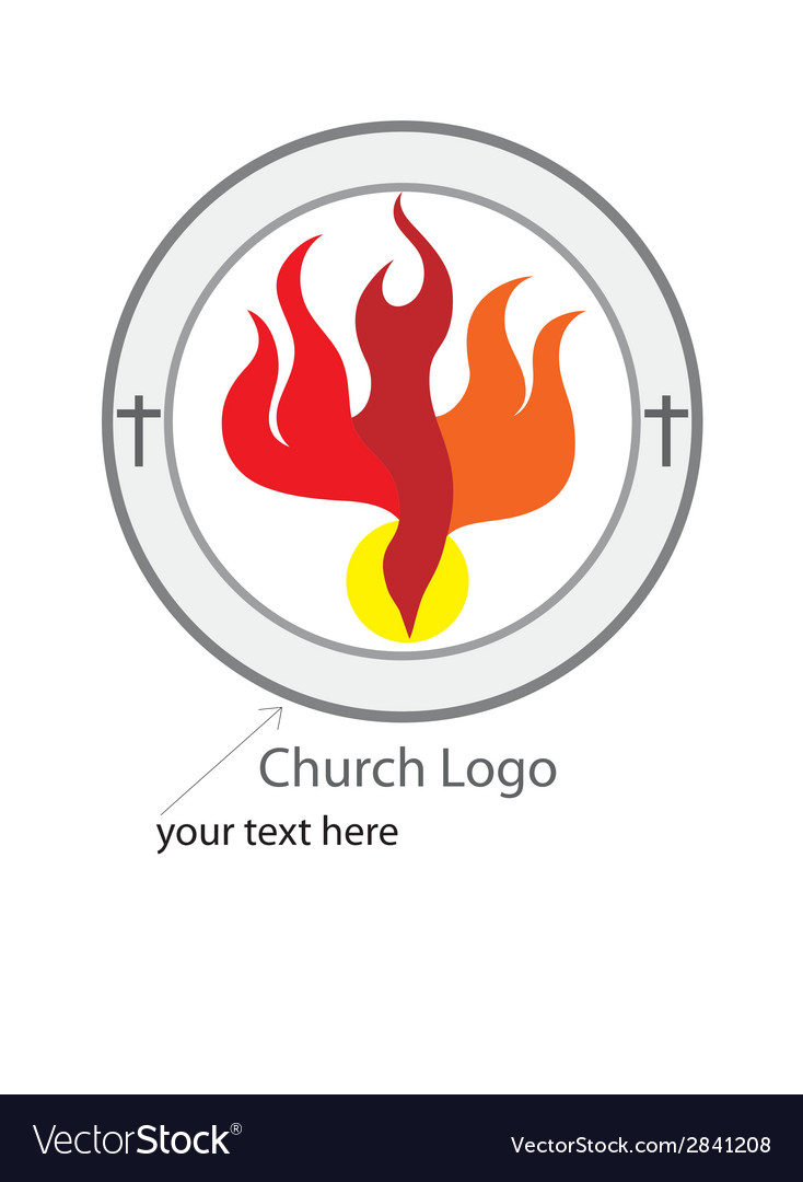 Holy spirit church logo vector | Price: 1 Credit (USD $1)