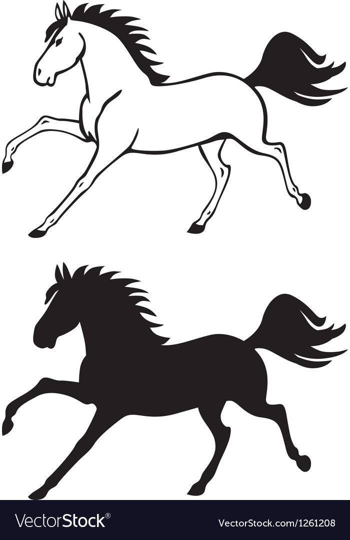 Horse contour vector | Price: 1 Credit (USD $1)