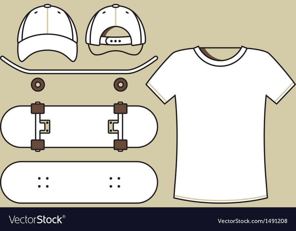 Skateboard set vector   Price: 1 Credit (USD $1)
