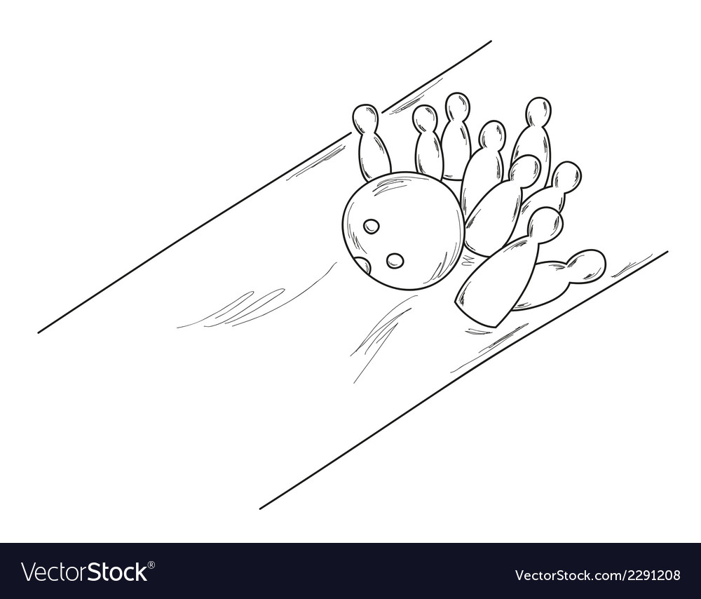 Sketch of the bowling vector | Price: 1 Credit (USD $1)