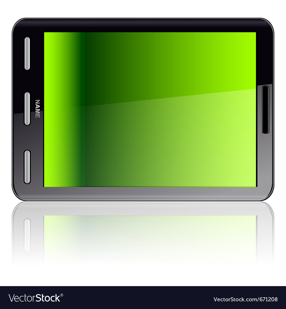 Vertical tablet computer vector | Price: 1 Credit (USD $1)