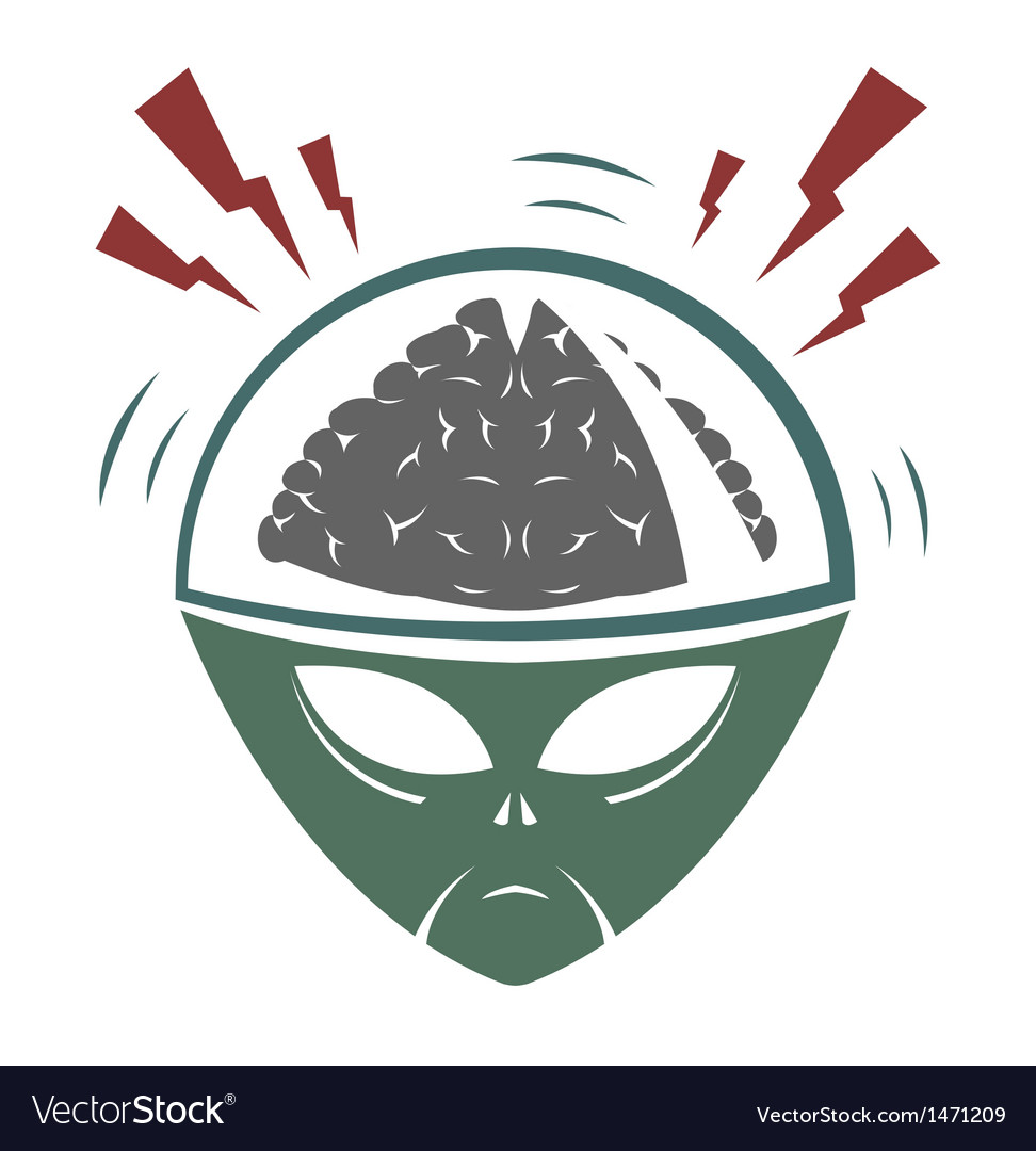 Alien brain vector | Price: 1 Credit (USD $1)