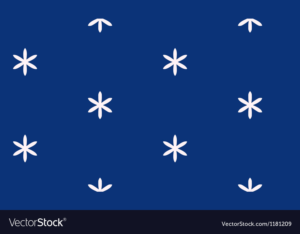 Blue pattern with flowers vector | Price: 1 Credit (USD $1)