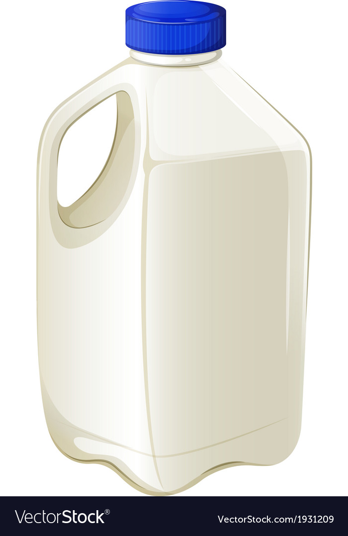 Bottle of milk vector