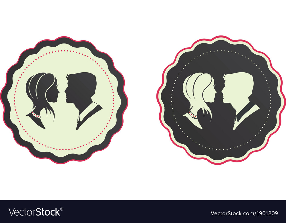 Cameo couple vector | Price: 1 Credit (USD $1)