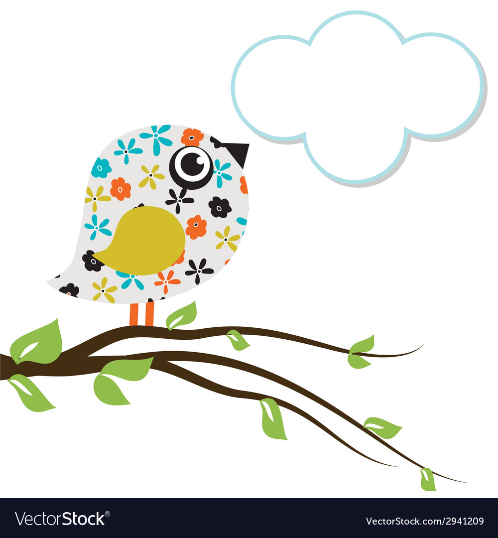 Cute beautiful bird for your design watercolor vector | Price: 1 Credit (USD $1)