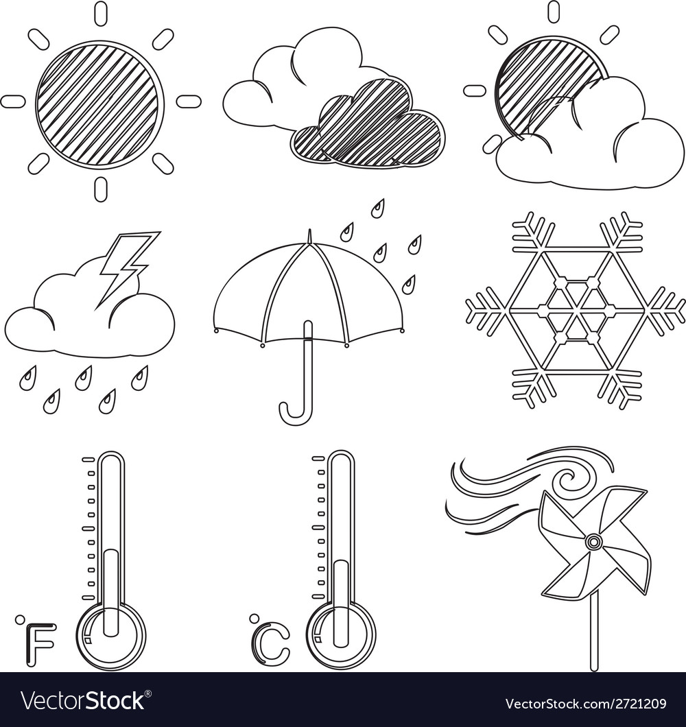 Different weather conditions vector | Price: 1 Credit (USD $1)