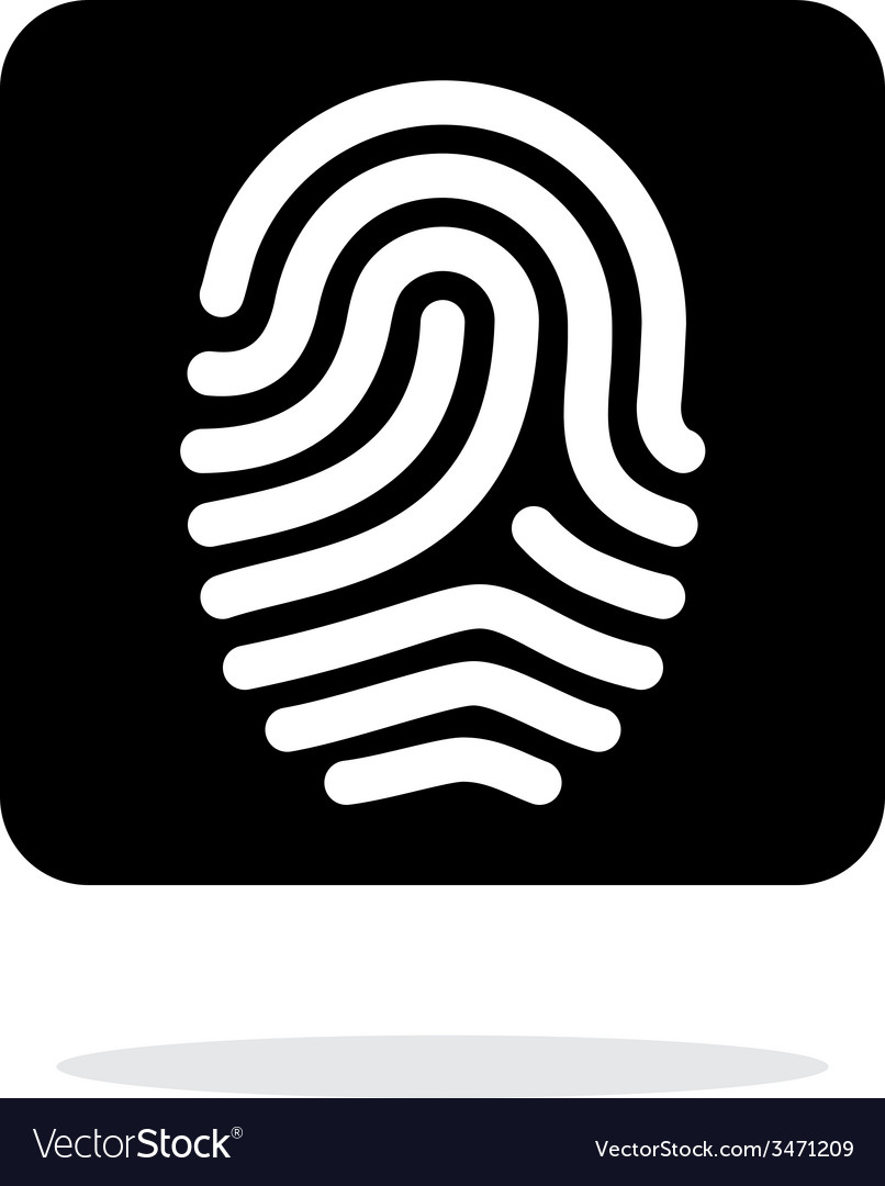 Fingerprint and thumbprint icon on white vector | Price: 1 Credit (USD $1)