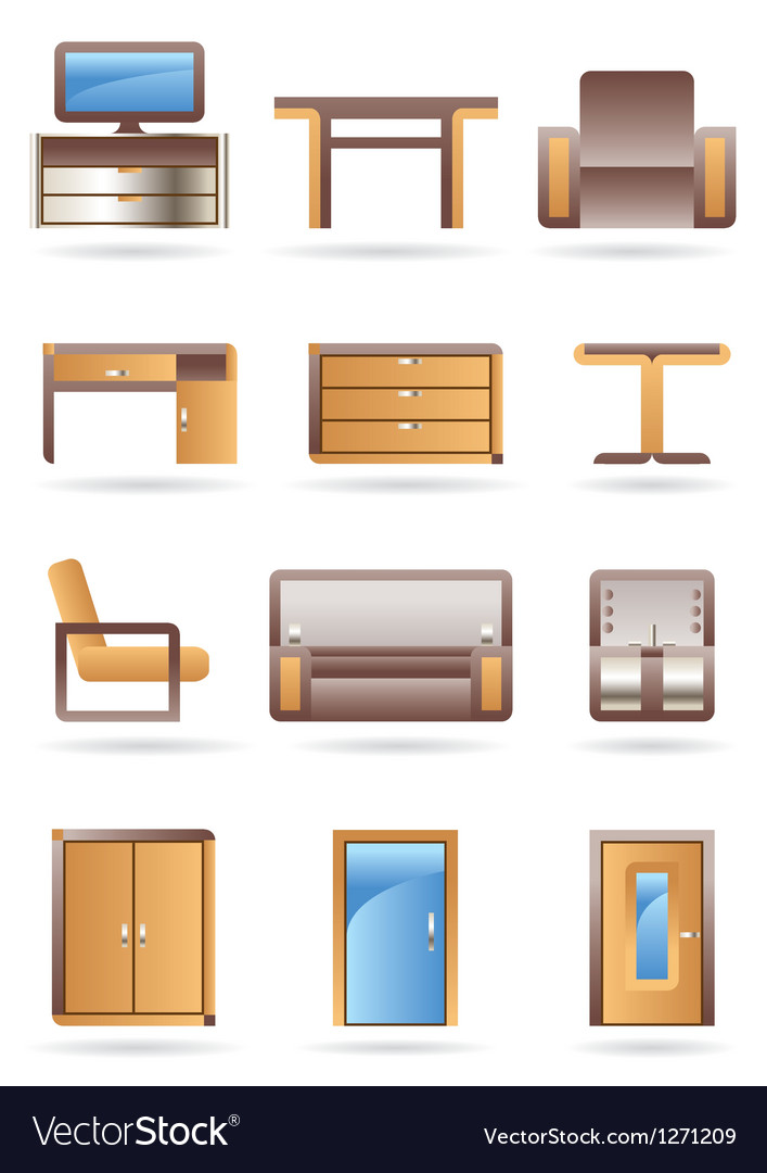 Furniture icons set vector | Price: 3 Credit (USD $3)