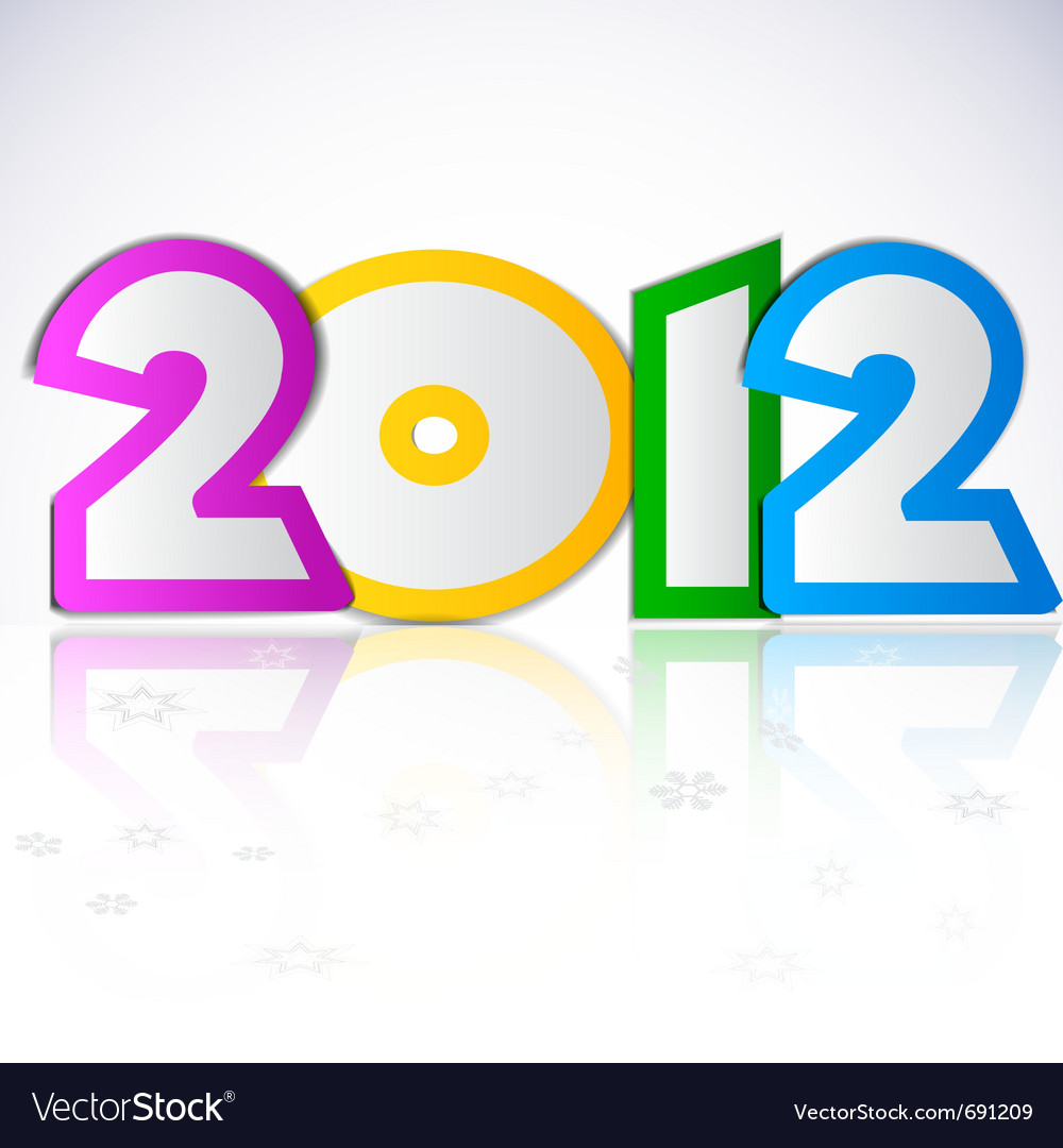 Happy new year 2012 design element vector | Price: 1 Credit (USD $1)