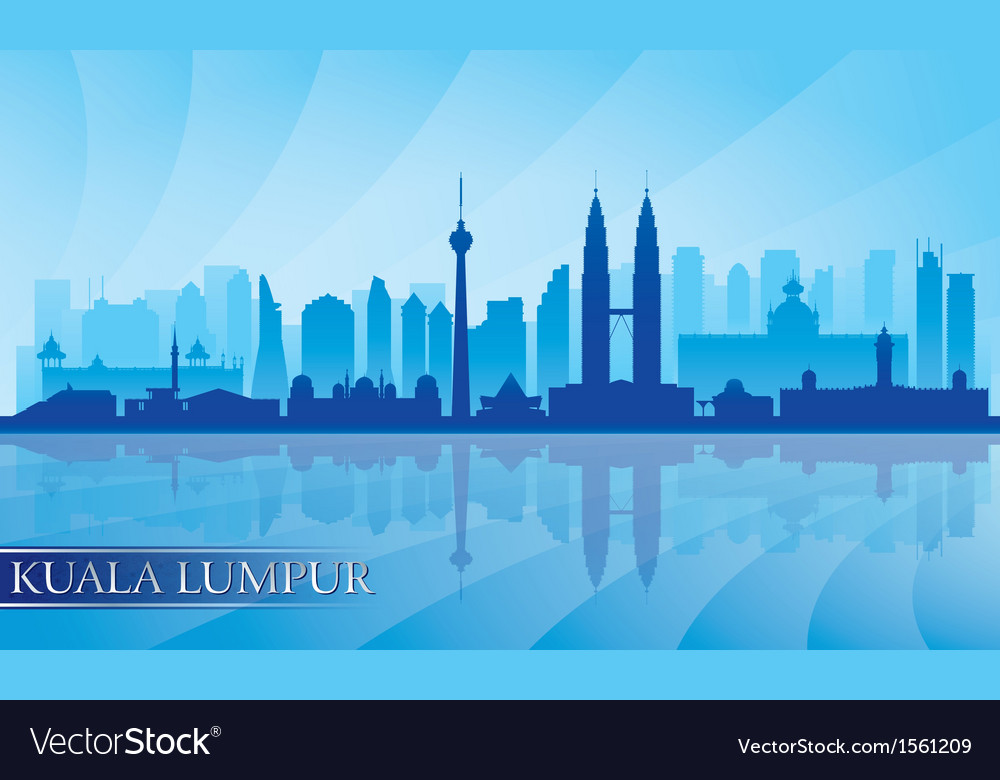 Kuala lumpur city skyline detailed silhouette vector | Price: 1 Credit (USD $1)