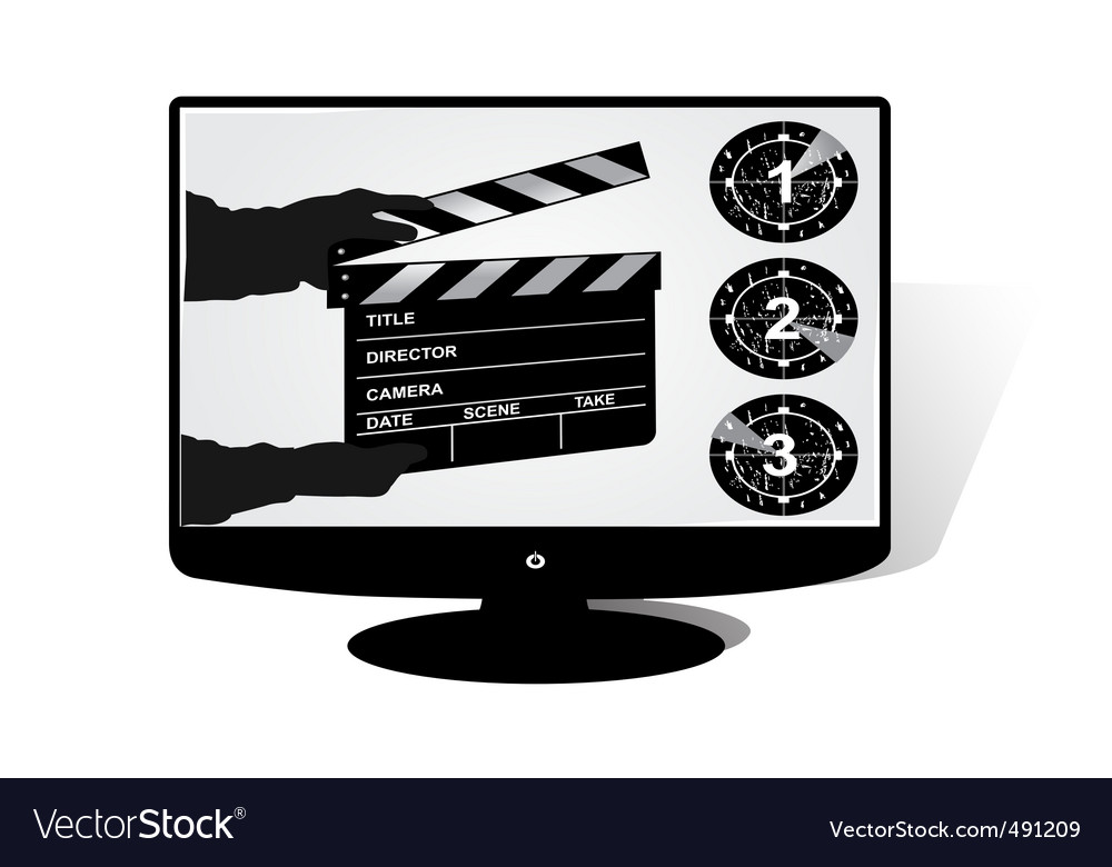 Lcd monitor vector | Price: 1 Credit (USD $1)