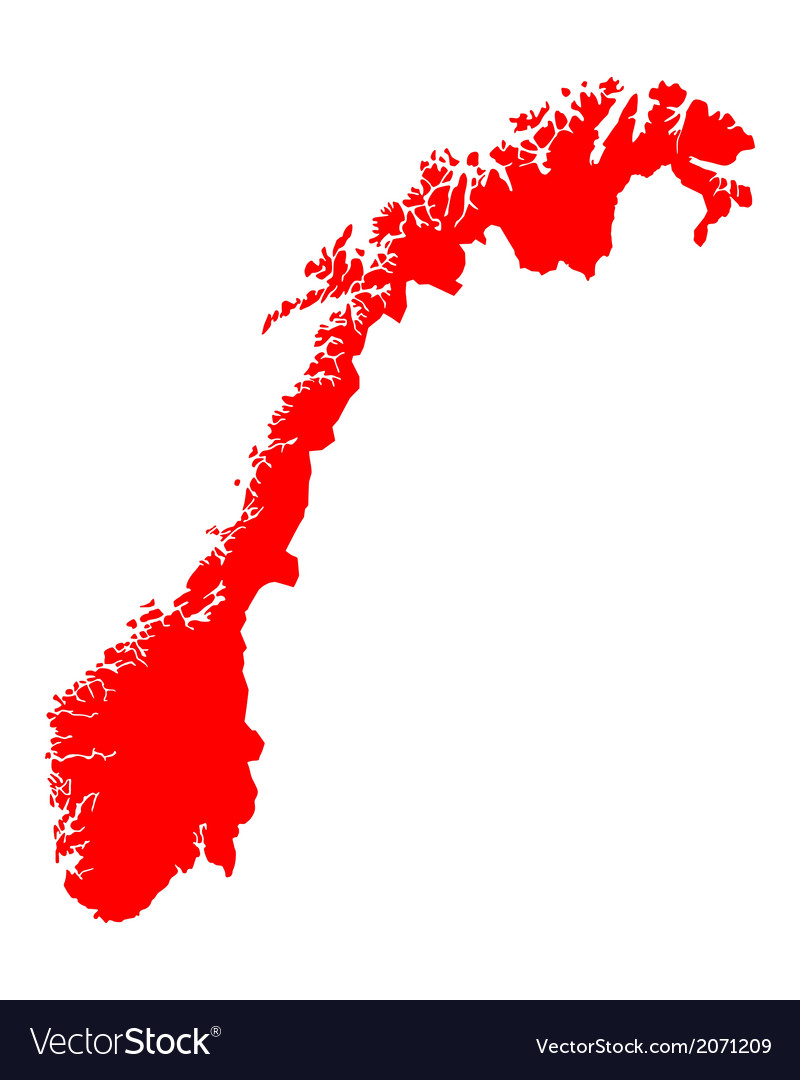 Map of norway vector | Price: 1 Credit (USD $1)