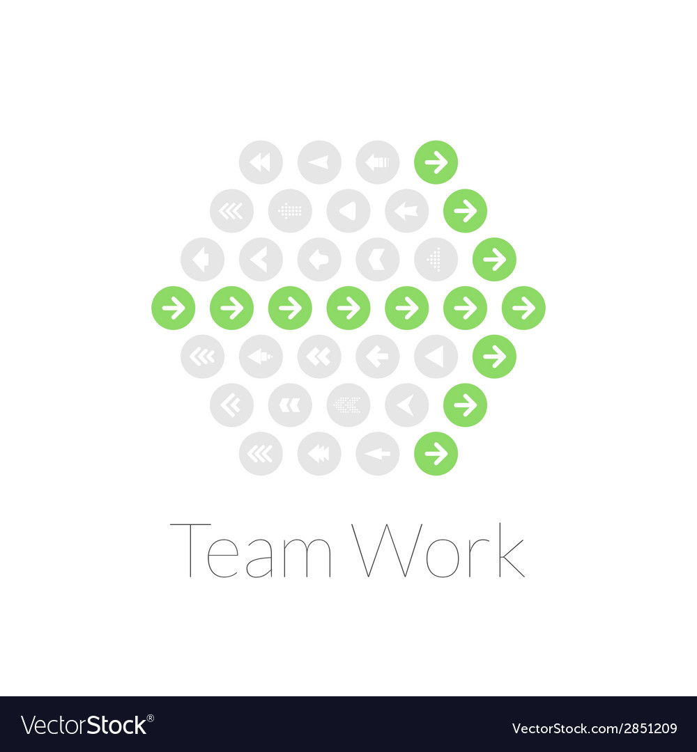Team work flat design concept vector | Price: 1 Credit (USD $1)