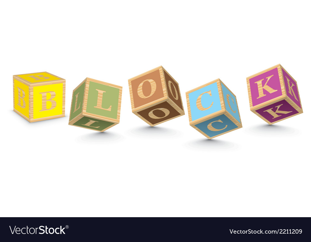 Word block written with alphabet blocks vector | Price: 1 Credit (USD $1)