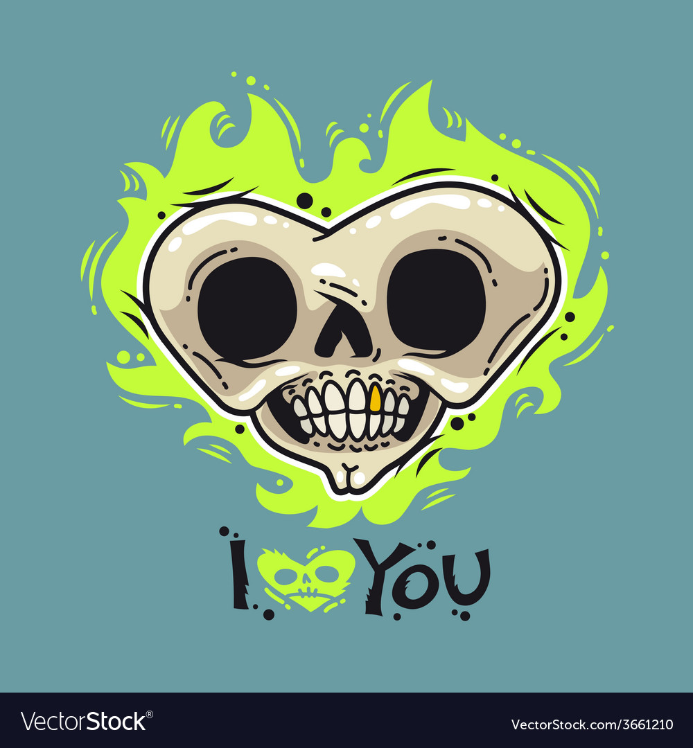 Burning dead heart loves you vector | Price: 1 Credit (USD $1)