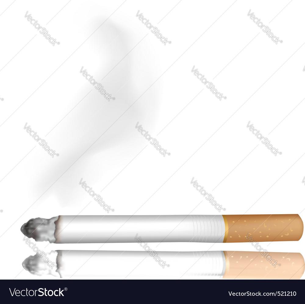 Cigarette white background vector | Price: 1 Credit (USD $1)